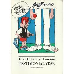 Geoff Lawson Testimonial Year Programme SIGNED BY LAWSON