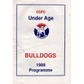 CDFC: Under Age Bulldogs 1988 Programme