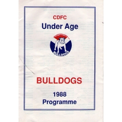 CDFC: Under Age Bulldogs 1988 Programme
