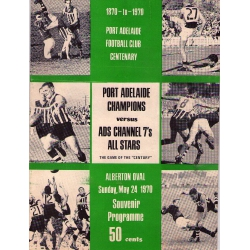 Port Adelaide vs ADS Channel 7's All Stars, May 24, 1970