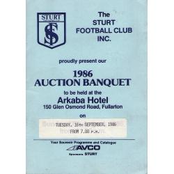 Sturt FC: 1986 Auction Banquet