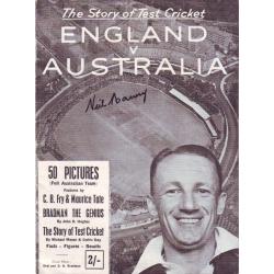 England v Australia 1948 Booklet SIGNED BY NEIL HARVEY
