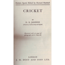 Cricket by Douglas Jardine