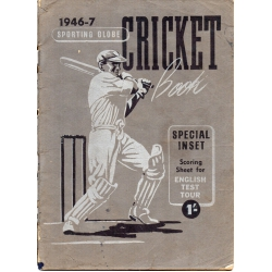 1946-7 Sporting Globe Cricket Book